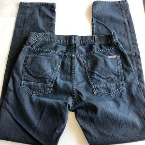 Hudson Jeans Slim Straight Fit Jeans in Dark Wash
